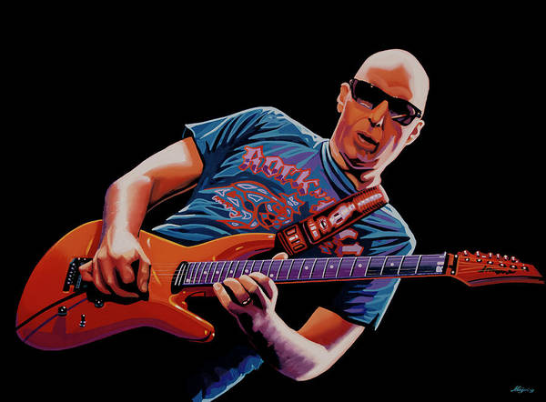 Painting - Joe Satriani Painting 2 by Paul Meijering