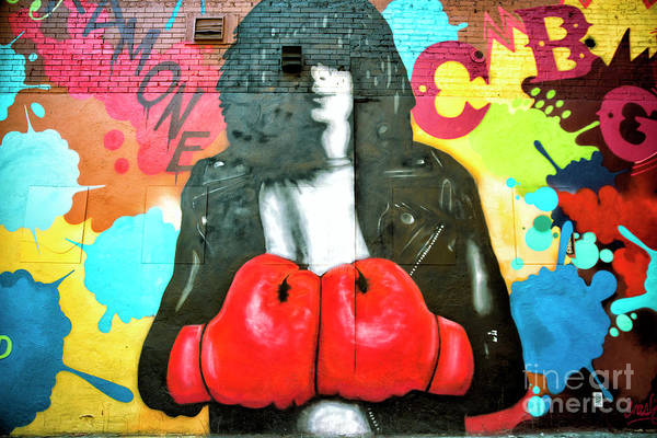 Photograph - Joey Ramone Mural In The Bowery New York City by John Rizzuto