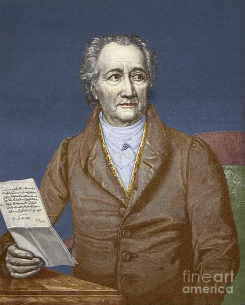 Wall Art - Drawing - Johann Wolfgang Von Goethe by Unknown