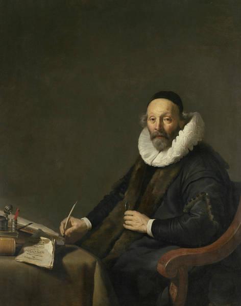 Painting - Johannes Wtenbogaert by Jacob Adriaensz Backer