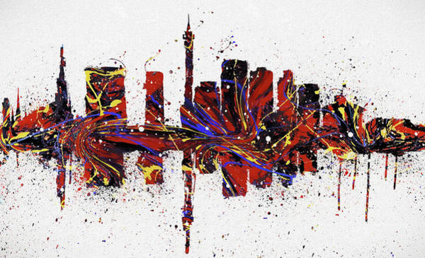 Wall Art - Painting - Johannesburg Colorful Skyline by Dan Sproul
