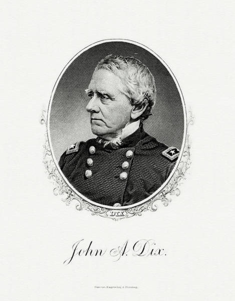 Matter Painting - John Adams Dix by The Bureau of Engraving and Printing