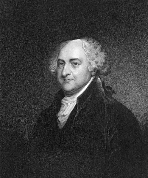 Us President Digital Art - John Adams by Hulton Archive