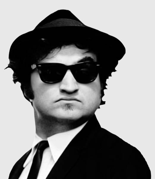 Wall Art - Digital Art - John Belushi Minimalistic Greyscale by Filip Hellman