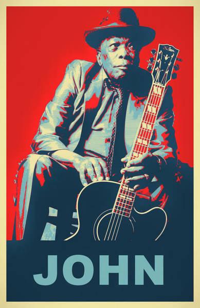 Wall Art - Mixed Media - John Blues Pop Art by Dan Sproul