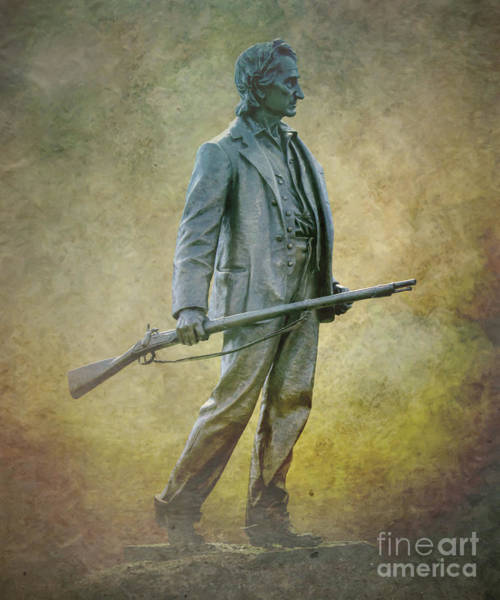 Wall Art - Digital Art - John Burns Monument Gettysburg by Randy Steele