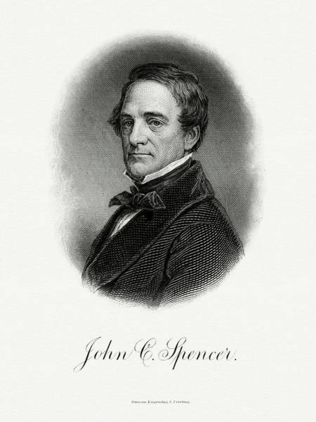 Wall Art - Painting - John C. Spencer by The Bureau of Engraving and Printing