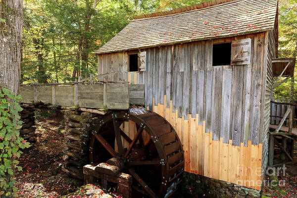 Wall Art - Photograph - John Cable Mill In Cades Cove Historic Area In Smoky Mountains by Louise Heusinkveld
