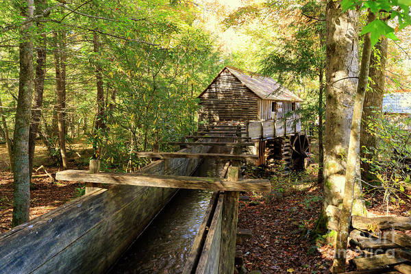 Wall Art - Photograph - John Cable Mill In Cades Cove Historic Area In The Smoky Mountains by Louise Heusinkveld