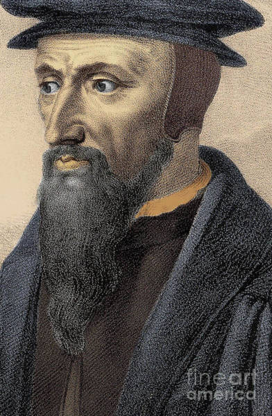 Wall Art - Drawing - John Calvin, Detail by French School