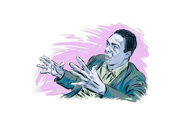 Hard Bop Wall Art - Digital Art - John Coltrane - An Illustration By Paul Cemmick by David Richardson