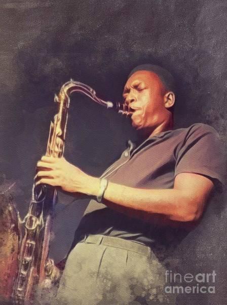 Wall Art - Painting - John Coltrane, Music Legend by John Springfield