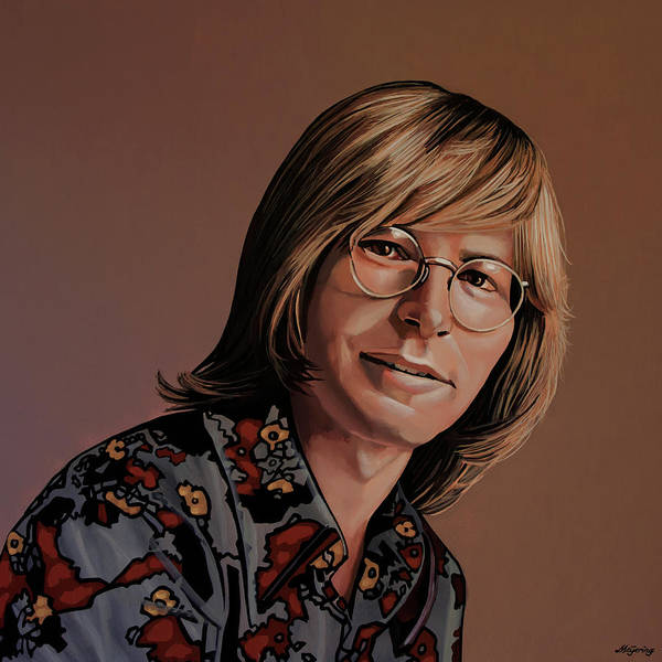 Painting - John Denver Painting by Paul Meijering