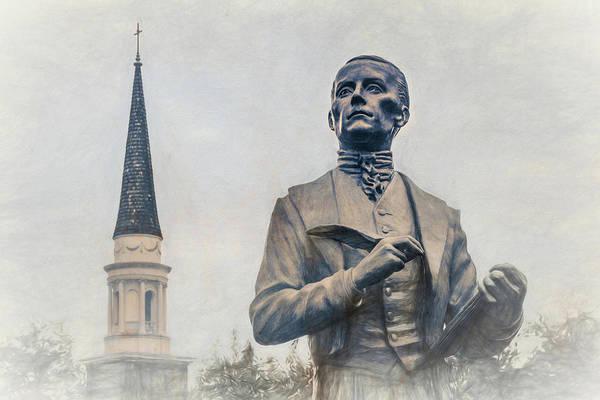 Wall Art - Photograph - John Emory Statue by Jim Love
