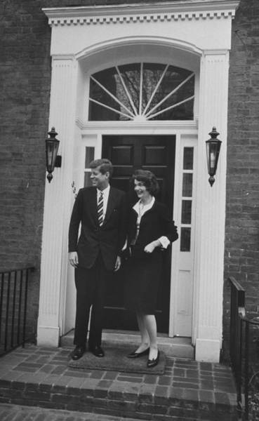 Photograph - John F. Kennedy  And Jacqueline Kennedy by Ed Clark