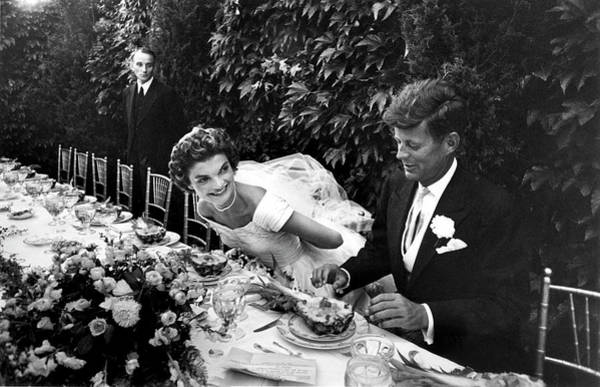 Wedding Reception Photograph - John F. Kennedy And Jacqueline Kennedy by Lisa Larsen