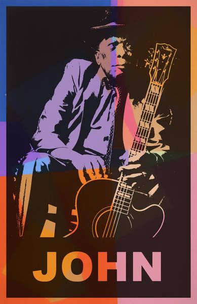 Wall Art - Mixed Media - John Lee Hooker Pop Art by Dan Sproul