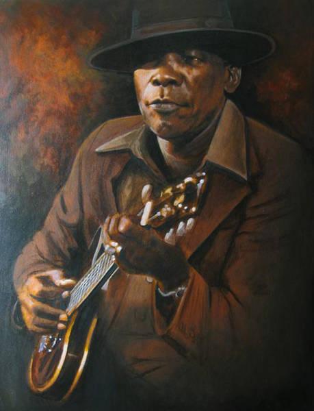 Harp Digital Art - John Lee Hooker by Toksi Nawi