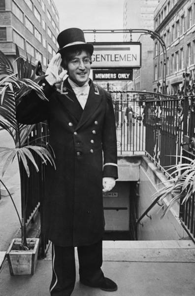 Wall Art - Photograph - John Lennon Disguised In Doorman At by Keystone-france