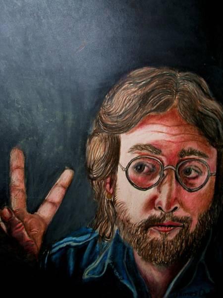 Wall Art - Drawing - John Lennon  by Dunbar's Modern Art