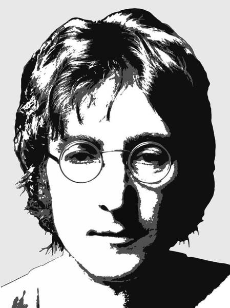 Wall Art - Digital Art - John Lennon Portrait - T-shirt by Daniel Hagerman