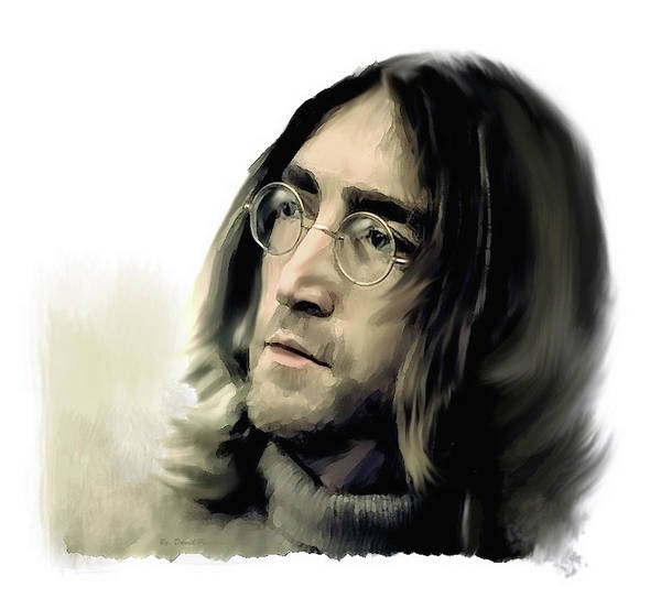 Painting - John Lennon Reflections  by Iconic Images Art Gallery David Pucciarelli