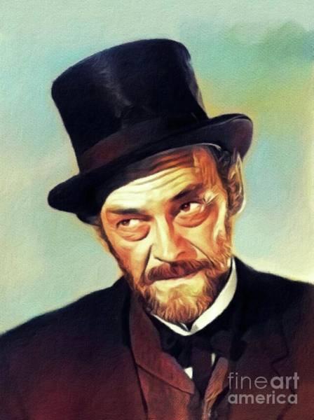 Wall Art - Painting - John Mcintire, Vintage Actor by John Springfield