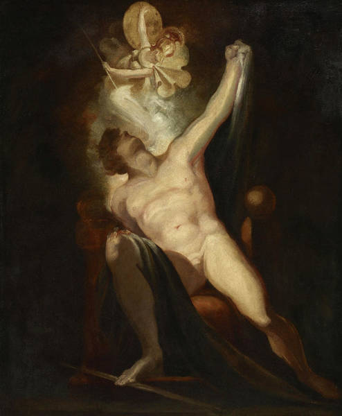 Satan Painting - John Milton's Paradise Lost, Satan And The Birth Of Sin by Johann Heinrich Fuseli