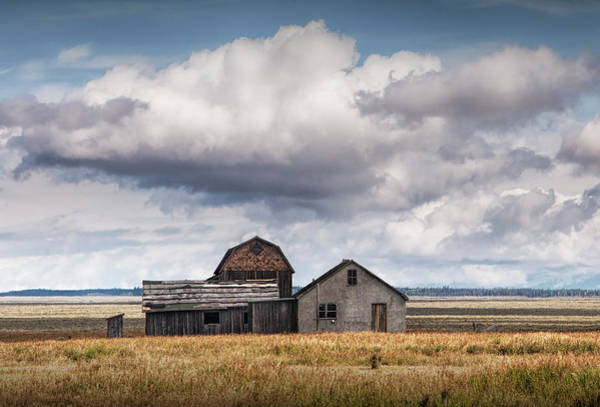 Photograph - John Moulton Farm On Mormon Row by Randall Nyhof