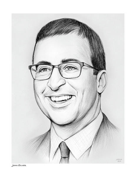 Drawing - John Oliver by Greg Joens