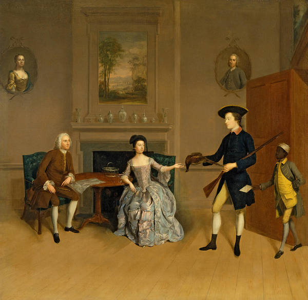 Wall Art - Painting - John Orde, His Wife Anne, And His Eldest Son William by Arthur Devis
