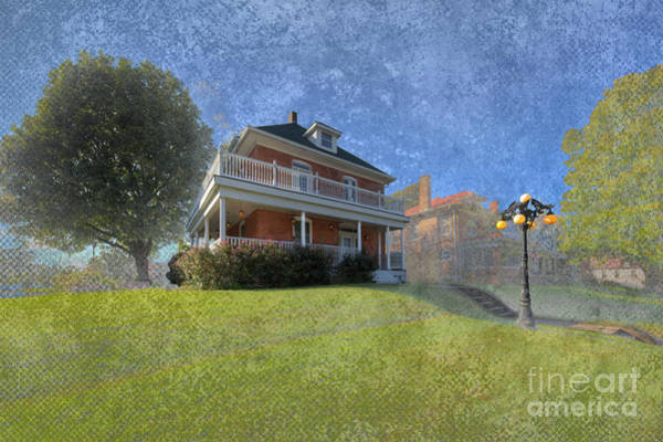 Historic House Digital Art - John Ralph Burge House by Larry Braun