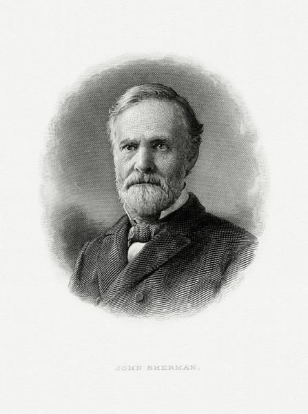 Matter Painting - John Sherman by The Bureau of Engraving and Printing