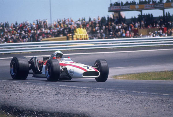 Driving Photograph - John Surtees Driving A Honda, Spanish by Heritage Images