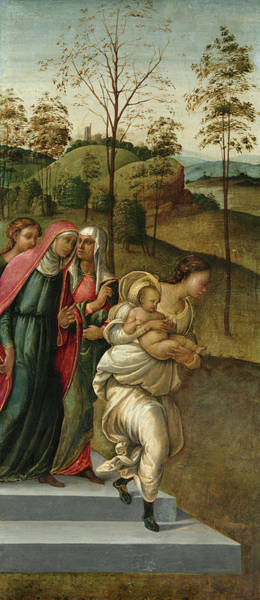 Wall Art - Painting - John The Baptist Being Carried To Zacharias, 1510 by Francesco Granacci