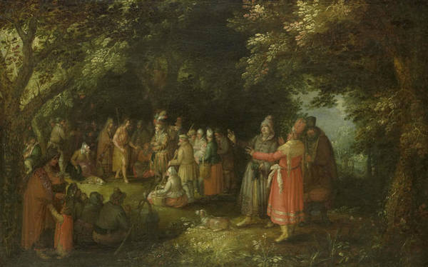 Wall Art - Painting - John The Baptist Preaching by David Vinckboons