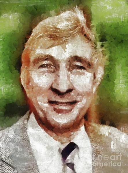 Wall Art - Painting - John Updike, Literary Legend by Mary Bassett