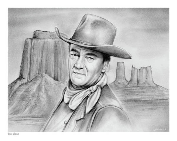 Wall Art - Drawing - John Wayne 07oct18 by Greg Joens