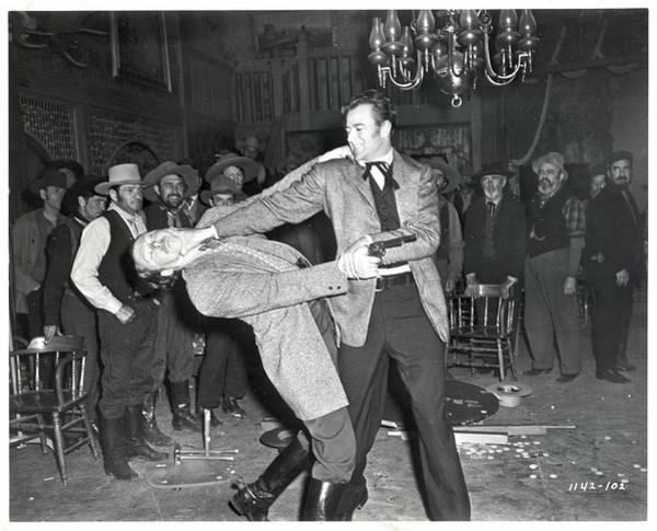 Photograph - John Wayne In Saloon Brawl Scenemovie by Bettmann