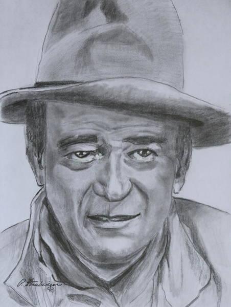 Novelties Painting - John Wayne by Patty Strubinger