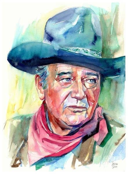 Wall Art - Painting - John Wayne Portrait by Suzann Sines