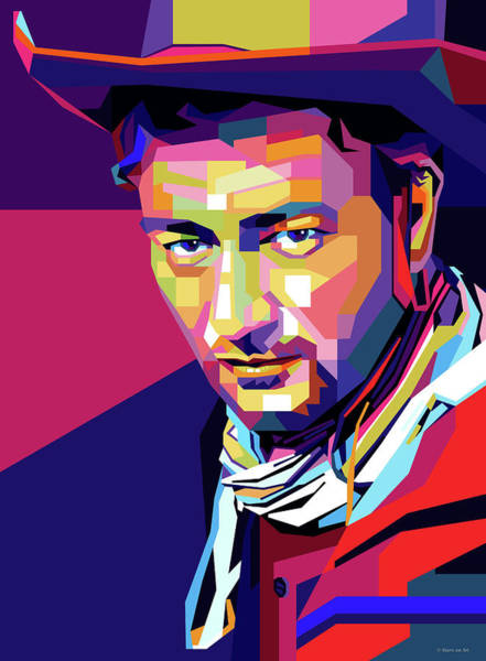 Wall Art - Digital Art - John Wayne by Stars-on- Art