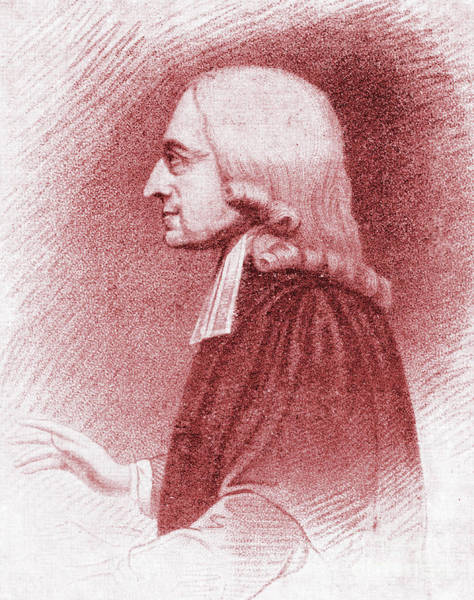 Wall Art - Drawing - John Wesley, Anglican Minister And Christian Theologian by English School