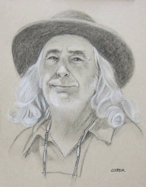 Drawing - John West by Todd Cooper