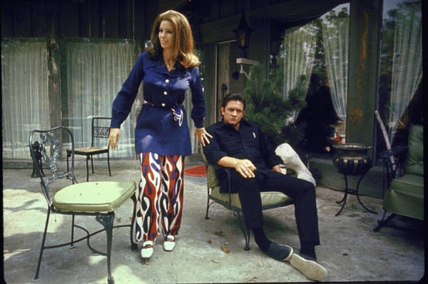 Photograph - Johnny Cash & Wife 2june Carter by Michael Rougier