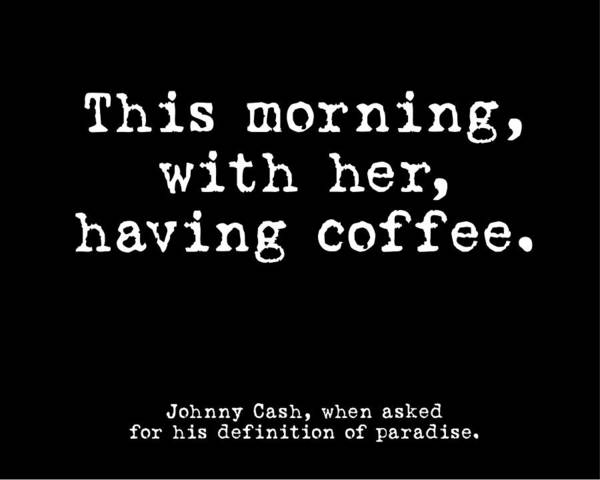 Wall Art - Photograph - Johnny Cash Coffee Black by Terry DeLuco