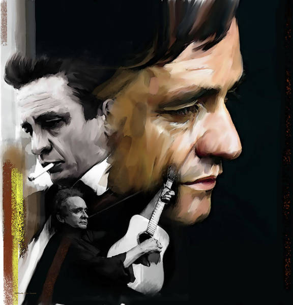 Wall Art - Painting - Johnny Cash  Hurt, Too by Iconic Images Art Gallery David Pucciarelli
