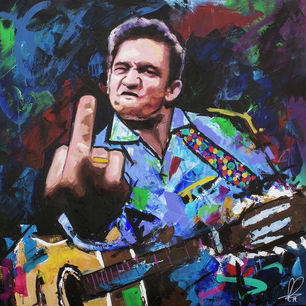 Wall Art - Painting - Johnny Cash IIi by Richard Day