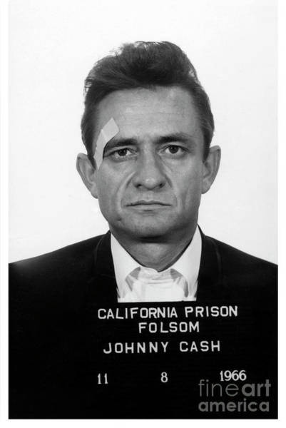 Cash Photograph - Johnny Cash Mugshot by Jon Neidert