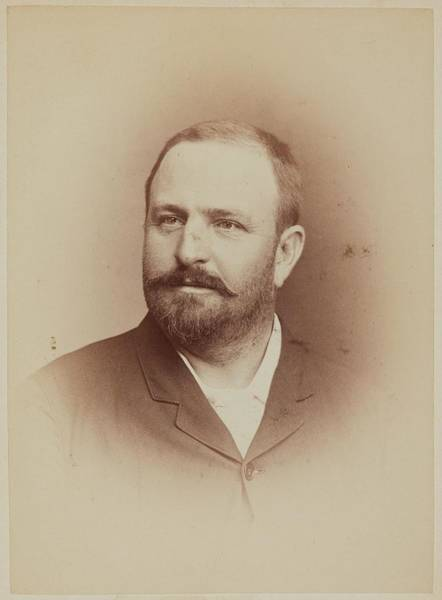 Painting - Johnston  Hoffman Man Ca. 1880 Albumen Silver Print by Celestial Images
